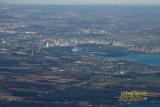 Aerial shot of Niagara Falls