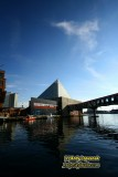 Pyramid reflections in Baltimore's Inner Harbor
