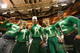 Michigan State chest-painted fans