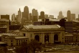 Kansas City's Union Station and downtown skyline