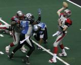 Grand Rapids Rampage QB Chad Salisbury tosses a pass
