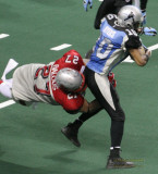 Grand Rapids Rampage LB Johnnie Balous making a tackle on special teams