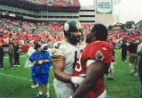 Dermontti Dawson & Warren Sapp - Pro Football HOFers
