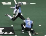 Kansas City Brigade kicker Clay Rush