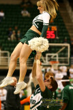 NCAA Michigan State University cheerleader