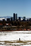 Downtown Denver from City Park