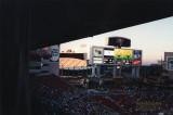 Tampa Stadium in the background. Raymond James Stadium in foreground