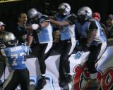 Kansas City Brigade celebrate a touchdown