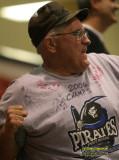 Michigan Pirates fan celebrates the team's victory