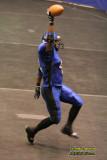 Michigan Pirates RB Robert Height celebrates a touchdown