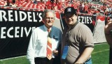 Me with KC Chiefs owner & Pro Football Hall of Famer Lamar Hunt