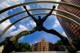 Freedom sculpture in downtown Tampa, Florida