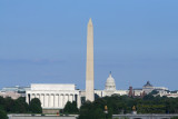 Lincoln Memorial, Washington Monument & the Capitol
