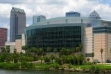 St. Pete Times Forum with downtown Tampa