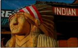 Carved Indian at the Mt. Carmel Junction, Utah