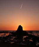 Widemouth Bay - Sunset behind Black Rock
