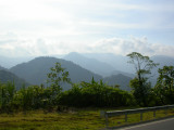 View going into the mountains from San José