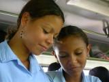 School girls commute