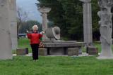 Ann as Statue