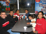 With Sylvia, George and kids