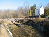 Inlet lock at Dam 5 and lockhouse