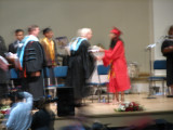 Christina receives diploma - bad picture!