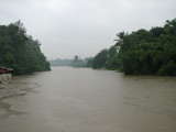 Periyar river in the midst of heavy monsoon rain