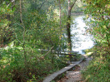 Bridge from WMRT to towpath at Little Pool