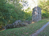 Remains of Lockhouse at lock 51