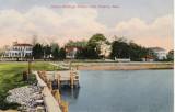 Duxbury School Buildings (looking from Bluefish River area) Postmark 1912