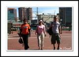 Deborah, Jen and Dan walked up to the meet up
