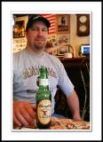 Brett, die-hard Ravens fan and his cold beer