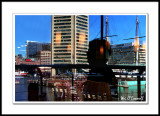 Reflection of Cindi and the Inner Harbor