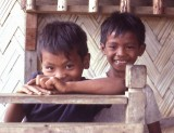 Philippines -- neighbor kids playing on our porch