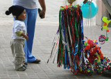 Mexico -- vendors sell toys for the amusement of the kids