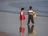 Morocco -- kids at the beach
