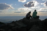 A Couple Enjoys The View From Stony Man Mountain.