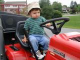 Matt on tractor