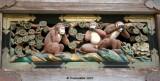 Three monkeys, Toshogu Nikko