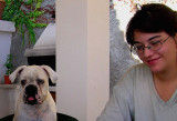 Alice and her Dog Nuba (Good Luck)