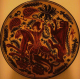 Saint George and the Dragon (Old Ceramic Plate)