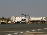UN helicopter and vehicles at the Axum airport.  These are for the Ethiopia-Eritrea border peacekeeping mission.