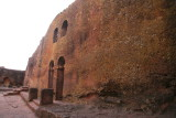 Wall surrounding some of the northwestern cluster of churches in Lalibela