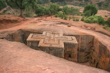 Bet Giorgis, the most famous rock-hewn church in Lalibela