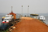 This boat dock is the departure point for a visit to Ngamba Island.