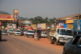 The busy road between Entebbe and Kampala