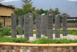 Each of these columns commemorates one of the slain Belgian soldiers.