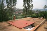 An open mass grave at the Kigali Memorial Center.