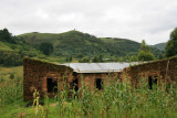 The land around Mgahinga is densely populated, lush and heavily cultivated.