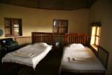 Inside our banda at the Mt. Gahinga Lodge